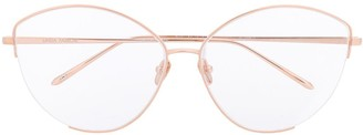 Linda Farrow Round Frame Optical Glasses