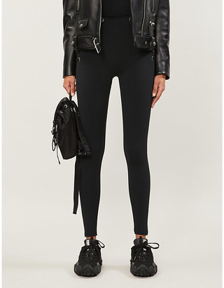 Good American Laced-sides stretch-jersey leggings