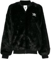adidas faux fur bomber jacket