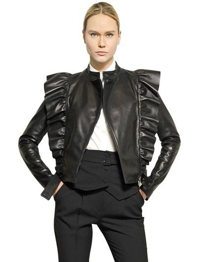 Viktor & Rolf Ruffled Nappa Leather Jacket