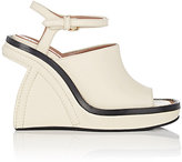 Marni WOMEN'S SCULPTED-WEDGE ANKLE-STRAP SANDALS-WHITE SIZE 5