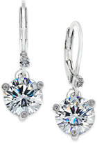 Kate Spade Silver-Tone Solitaire Crystal Drop Earrings