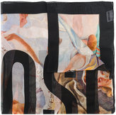 Moschino masterpiece print scarf