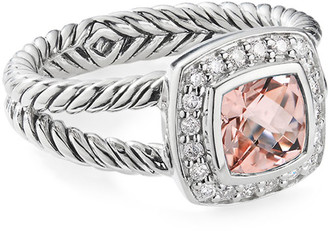 David Yurman Petite Albion Ring with Morganite & Diamonds
