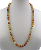 My Gems Rock! Women's Necklaces brown - Prehnite Long Beaded Necklace