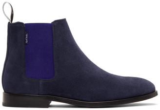 Paul Smith Navy Gerald Chelsea Boots