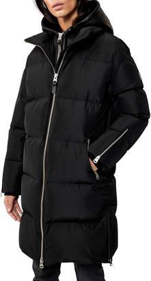Mackage Hooded Down Coat w/ Sheepskin Bib