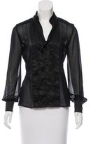 Cacharel Textured Sheer Blouse