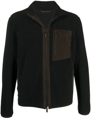 Ermenegildo Zegna Textured High-Neck Zipped Jacket