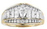 Cherish Always 10k Gold 1 Carat T.W. Diamond Marquise Ring
