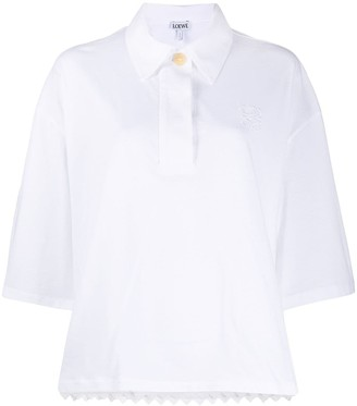 Loewe Scallop-Hem Oversized Shirt