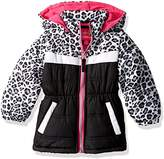 Pink Platinum Baby Girls Animal Print Puffer