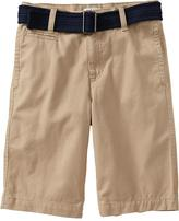 Old Navy Boys Pop-Color Belted-Twill Shorts
