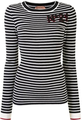 No.21 Striped Knitted Top