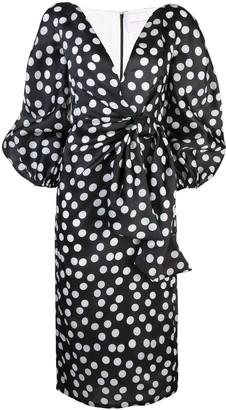 Carolina Herrera polka dot v-neck dress