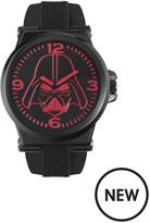 Star Wars Star Wars Black Rubber Strap Red Darth Vader Face Mens Watch
