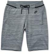 Nike - Mélange Tech Knit Cotton-blend Shorts