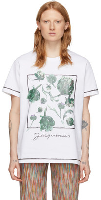 Jacquemus White Artichoke Le T-Shirt Mala T-Shirt