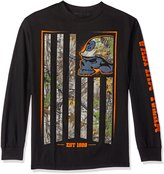 Metal Mulisha Men's Plus Size Fracture Long Sleeve Shirt