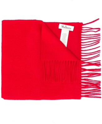 Mulberry Fringed Scarf