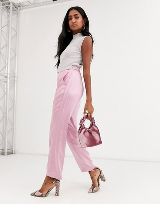 Atoir golden barbie straight leg trousers with zip front-Pink