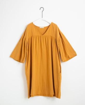 Beaumont Organic Dylla Organic Cotton Dress In Sun - Sun / Extra Small