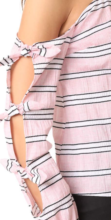 Nicholas N Clara Stripe Knot Top