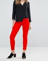 French Connection Skinny Zipped Red Jeans