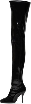 Stuart Weitzman 100mm Shilo Stretch Vinyl Boots