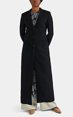 Jil Sander Women's Wool Collarless Coat - Black
