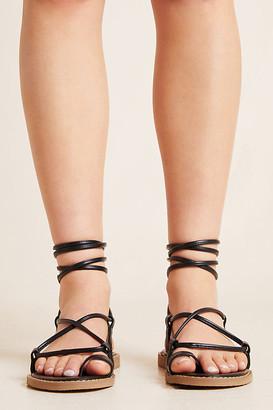 Matiko Eliza Toe-Loop Sandals By in Black Size 36