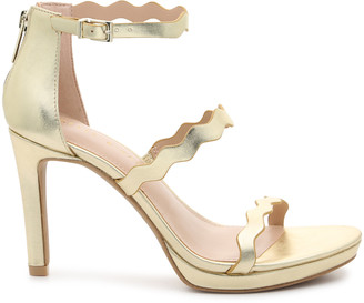 Kelly & Katie Women's Litton Platform Sandals White Size 5 Faux leather or printed fabric upper From Sole Society