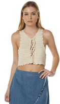 All About Eve Liana Womens Crochet Cami White