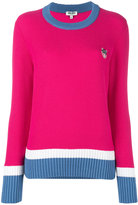 Kenzo contrast knitted sweater - women - Cotton/Polyester/Viscose - L