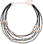 ELOQUII Faux Suede Layered Necklace