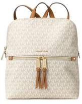 MICHAEL Michael Kors Rhea Zip Slim Logo Backpack