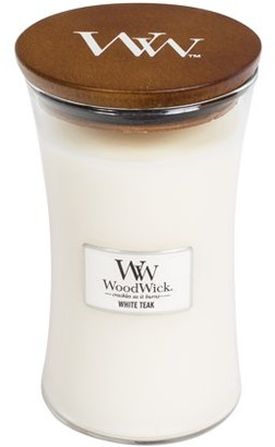 Hourglass Woodwick Candles WoodWick White Teak - Large Candle