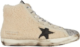 Golden Goose Francy Shearling High-Top Sneakers