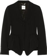 Moschino Crepe peplum jacket