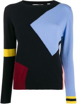 Parker Chinti & cashmere colour-block jumper