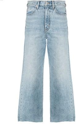 SLVRLAKE Wide-Leg Cropped Jeans
