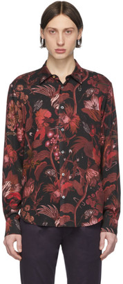 Paul Smith Red and Black Floral Goliath Shirt