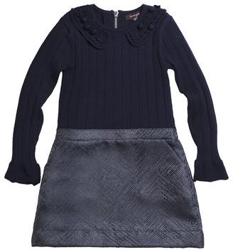 Imoga Sweater & Jacquard Woven Dress