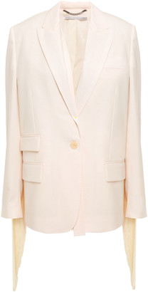 Stella McCartney Fringed Wool-twill Blazer
