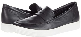 Ecco Soft 7 Loafer (Black) Women's Shoes