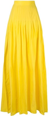 Alexis pleated a-line skirt