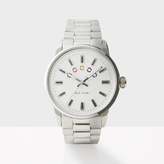 Paul Smith Men's White And Silver 'Block' Watch