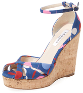 LK Bennett Linette Strappy Cork Wedge