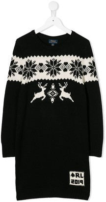 Ralph Lauren Kids Fair Isle Knit Sweater Dress