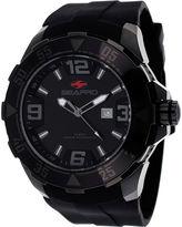 Seapro Diver Mens Black Silicone Strap Watch